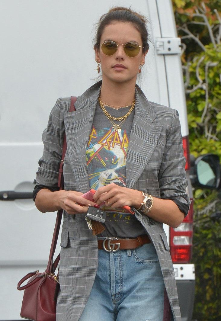 Alessandra Ambrosio Round Sunglasses