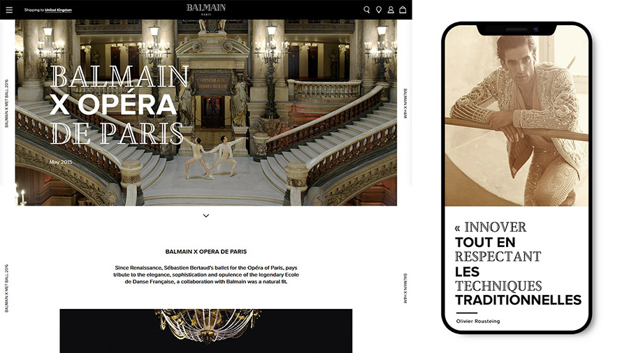 Balmain Website Redesign