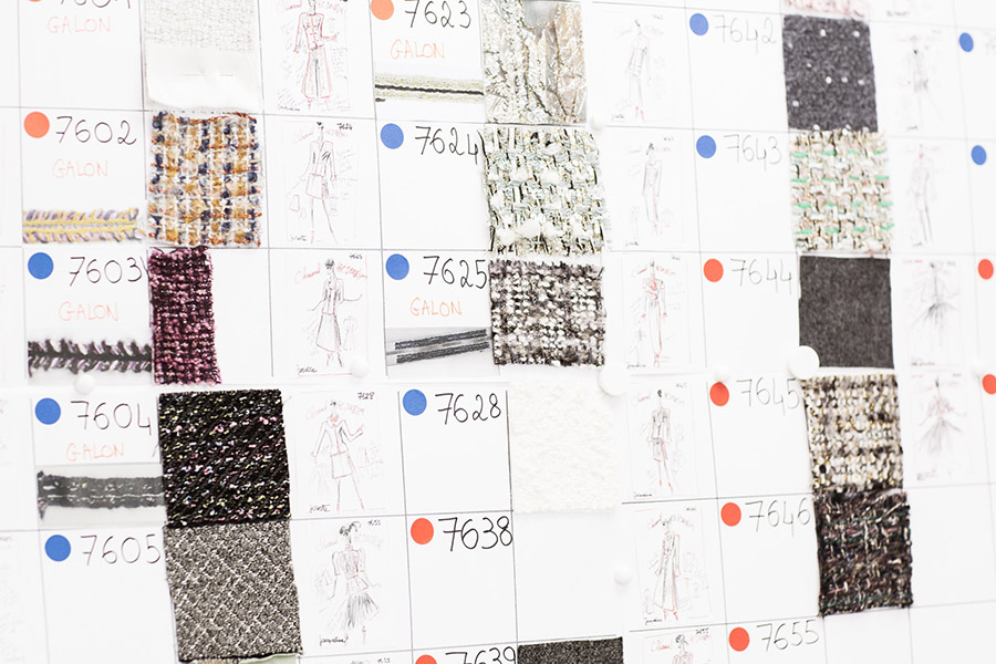 Chanel Haute Couture Atelier Material Board