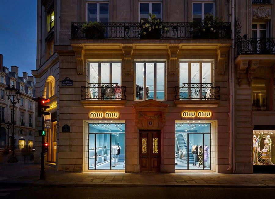 Miu Miu Paris Rue du Faubourg Saint-Honoré Store