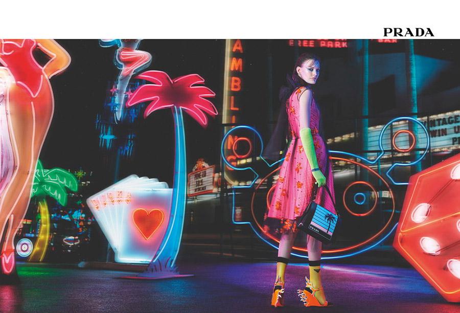 Prada Neon Dream Ad Campaign