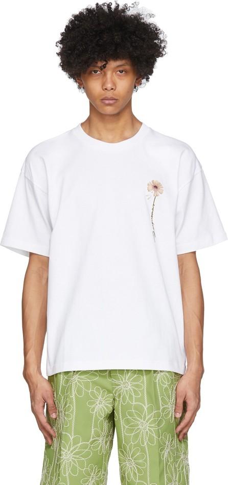 Jacquemus White 'Le T-Shirt Fleur' T-Shirt