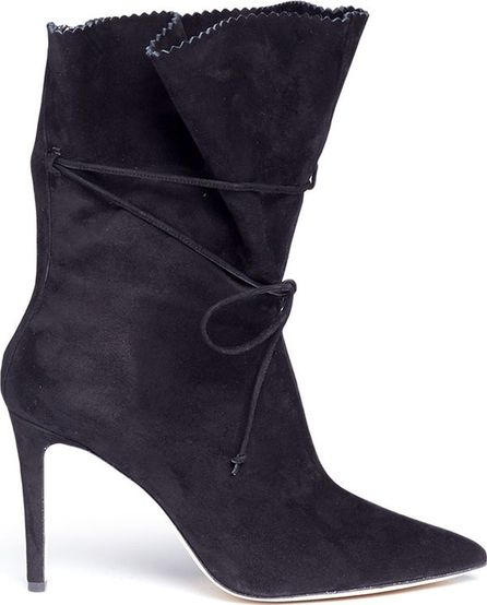 Alexander White 'Camille' serrated cuff suede boots