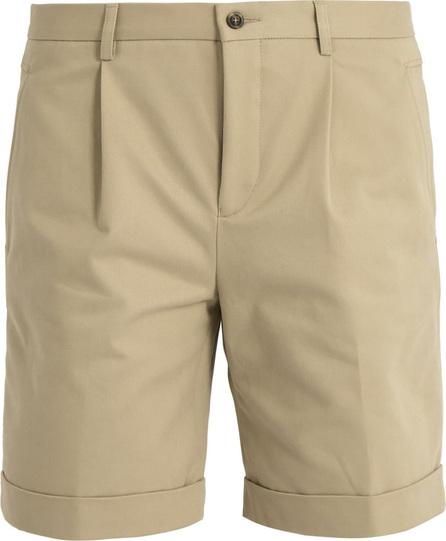 Éditions M.R Pleated-front slim-leg cotton shorts
