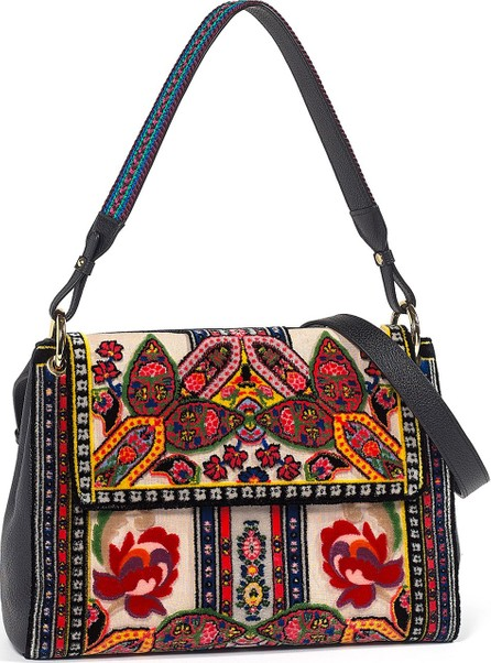Etro Needle Punch Foulard Shoulder Bag