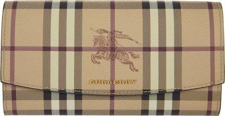 Burberry London England Tan Halton Haymarket Check Wallet
