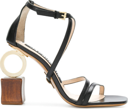 Jacquemus Abstract heel strappy sandals
