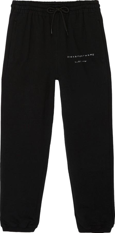 Alexander Wang x Lane Crawford 'Bling' logo embellished unisex jogging pants