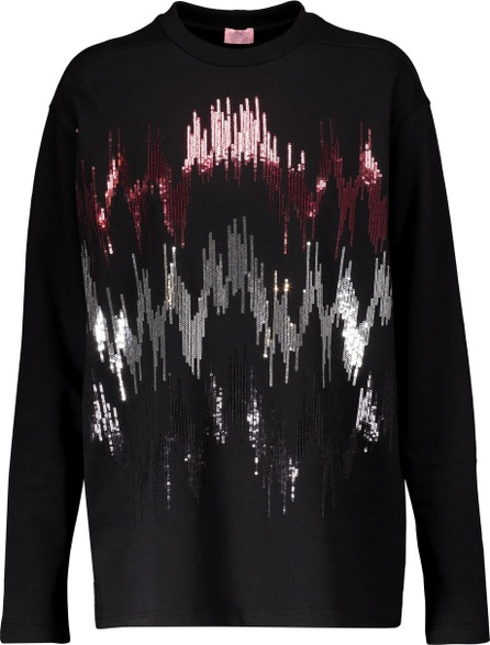 GIAMBA Sequin-embellished cotton sweatshirt
