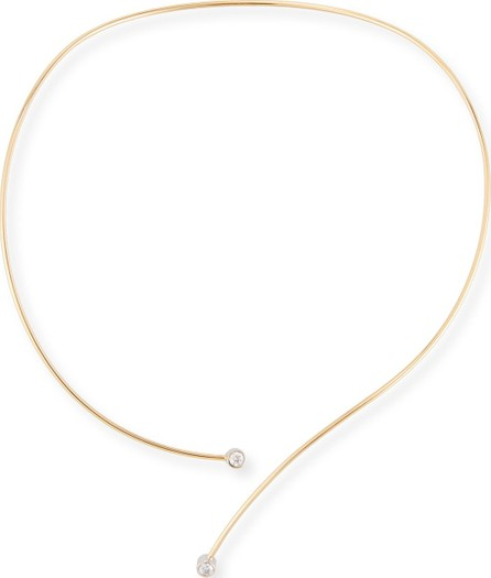 A. Link for Forevermark 18K Yellow Gold Collar Necklace with Diamond Tips