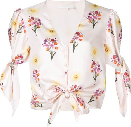 Borgo De Nor Floral cropped blouse