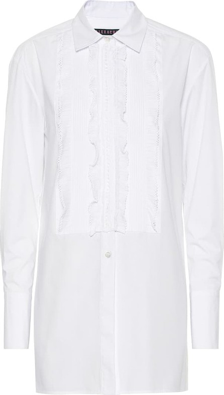 Alexachung Lace-trimmed cotton poplin shirt