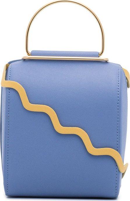 Roksanda Besa leather shoulder bag with metallic hoop handle