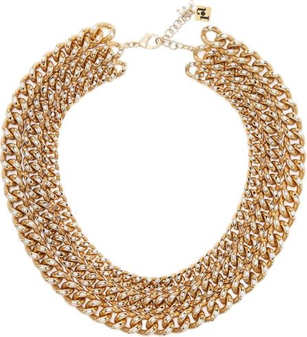 Rosantica Ingranaggio brass chain necklace