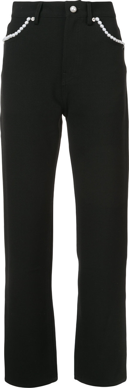 Adam Selman Pearl trim trousers