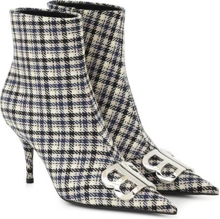 Balenciaga BB checked ankle boots