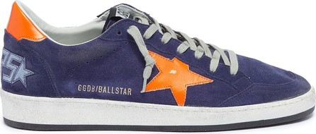 Golden Goose Deluxe Brand 'Ball Star' slogan print counter suede sneakers