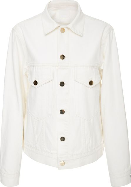 GOLDSIGN Patch Pocket Pearl White Denim Jacket