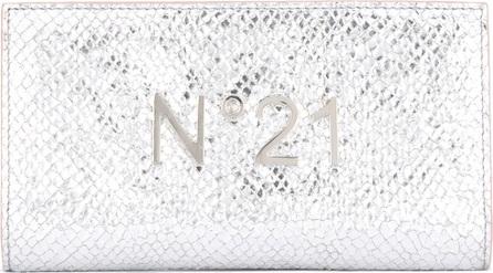 Nº21 logo plaque high shine wallet