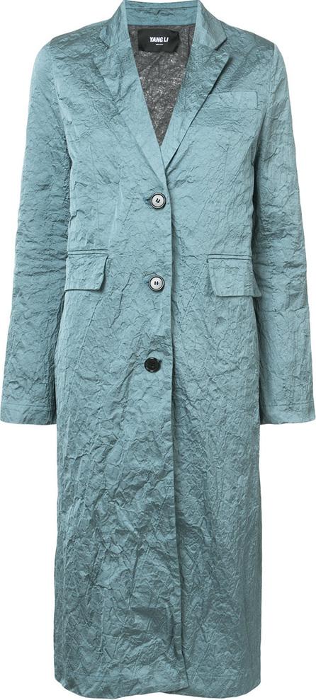 Yang Li Crumpled single-breasted coat