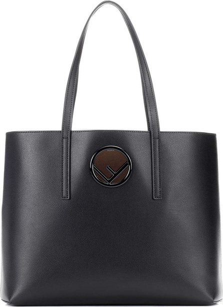 Fendi F leather shopper