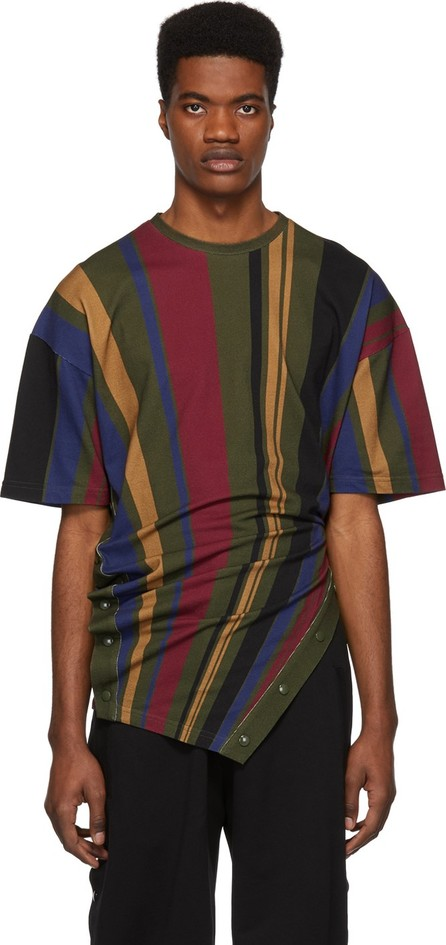 Diesel Red Tag Green & Multicolor Glenn Martens Edition Stripe Piqué T-Shirt