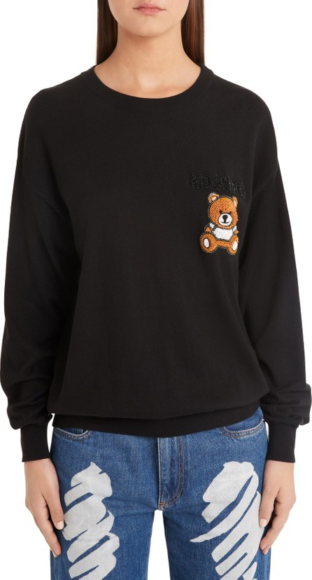 Moschino Embellished Teddy Sweater