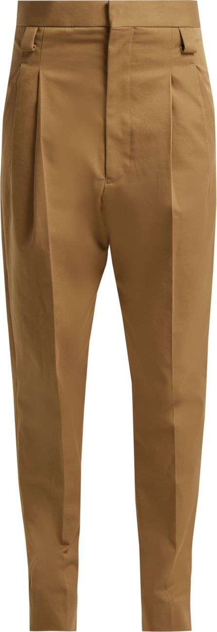 Haider Ackermann Silene tapered cotton-twill trousers