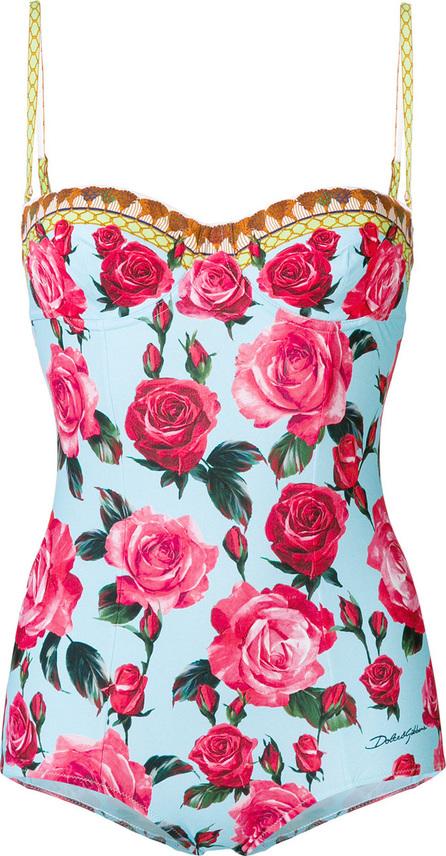 Dolce & Gabbana Rose print one-piece