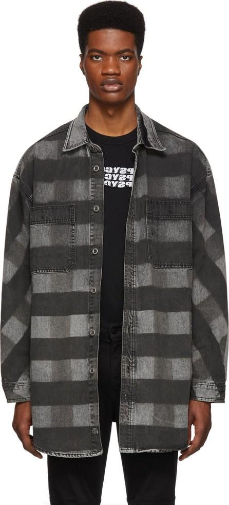 Diesel Black Denim D-Loren Shirt Jacket