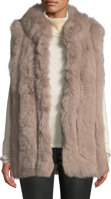 Belle Fare Zip-Front Fur Long Vest