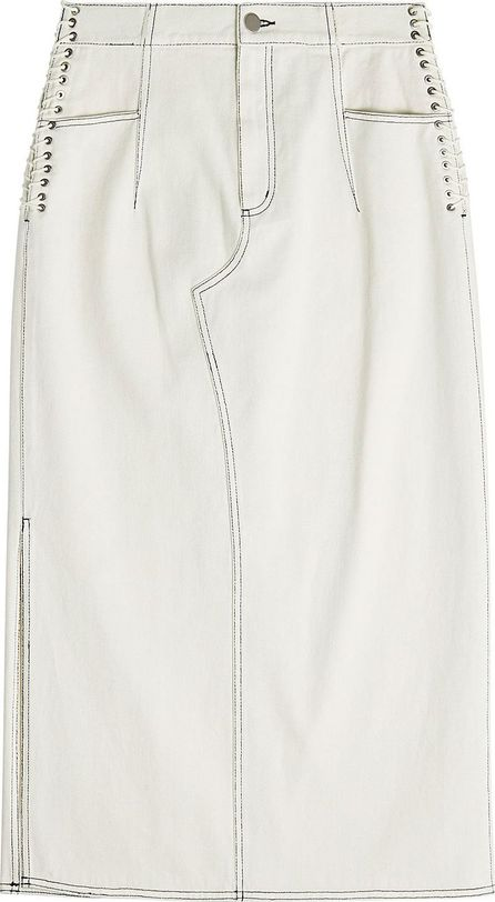 3.1 Phillip Lim Denim Skirt with Lace-Up Sides