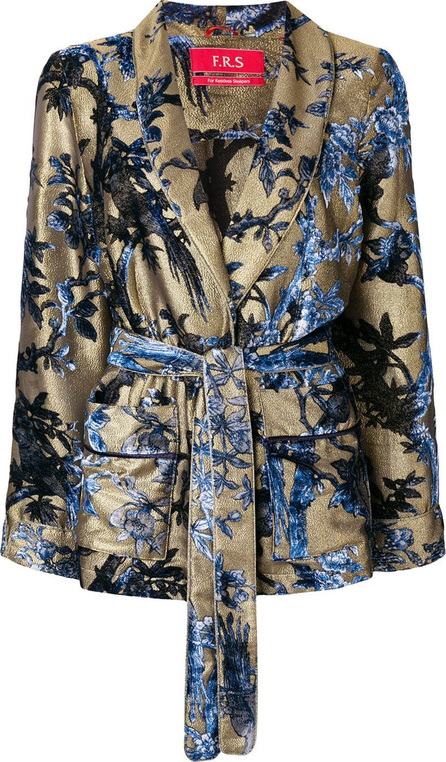 F.R.S For Restless Sleepers Floral print belted blazer