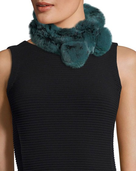 Belle Fare Rabbit Fur Neck Warmer