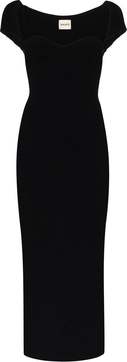 Khaite Allegra ribbed knit midi dress