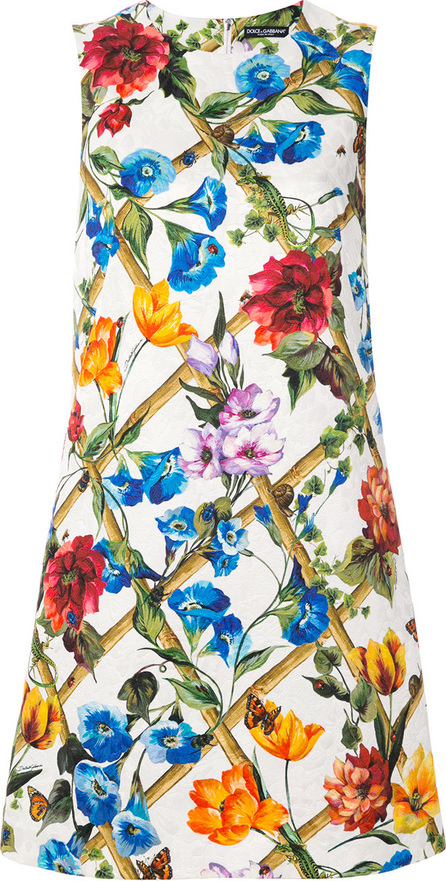Dolce & Gabbana Floral print brocade shift dress