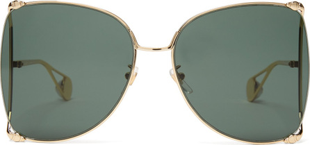 Gucci Oversized butterfly-frame sunglasses
