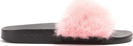 Givenchy Mink-fur and rubber slides