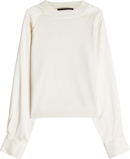 Haider Ackermann Knit Pullover with Satin Sleeves