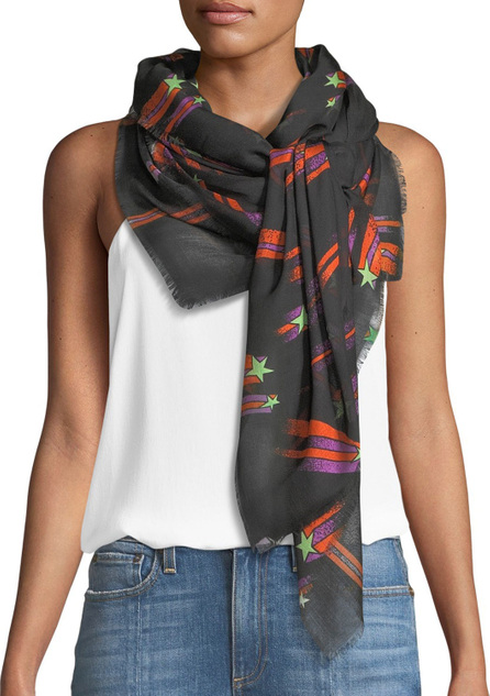 Rockins Shooting Stars Fringe Scarf