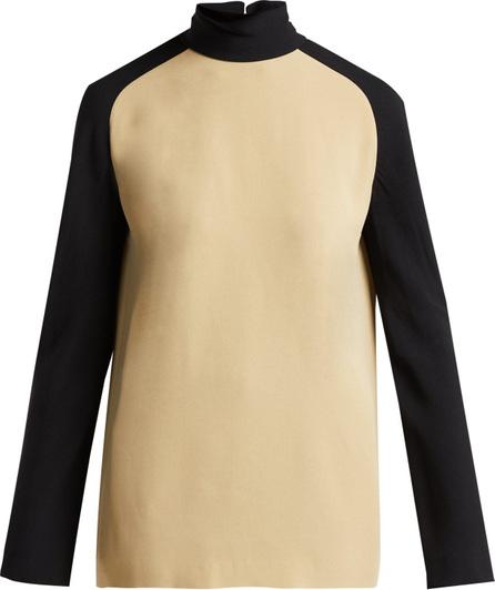 Haider Ackermann Kuiper two-tone crêpe blouse