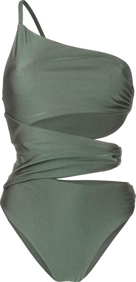Cult Gaia Cut-detail one shoulder swimsuit