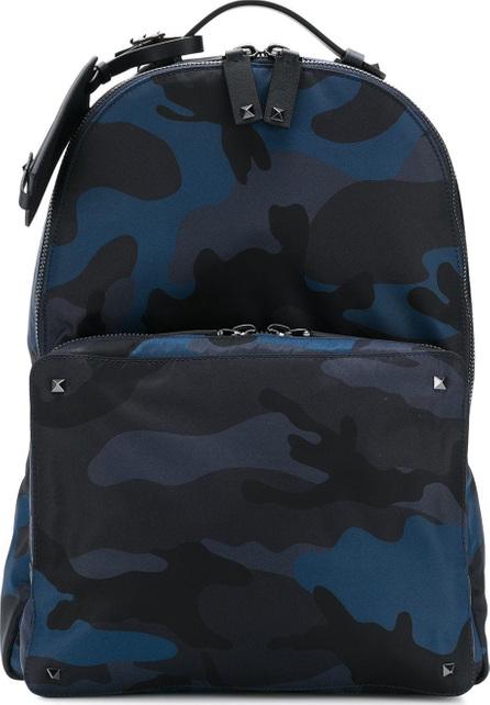 Valentino Valentino Garavani Rockstud camouflage print backpack