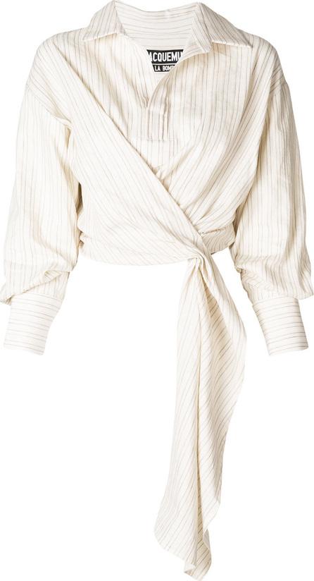 Jacquemus Striped tie waist shirt
