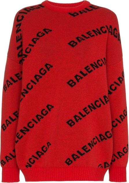 Balenciaga Logo print wool sweater
