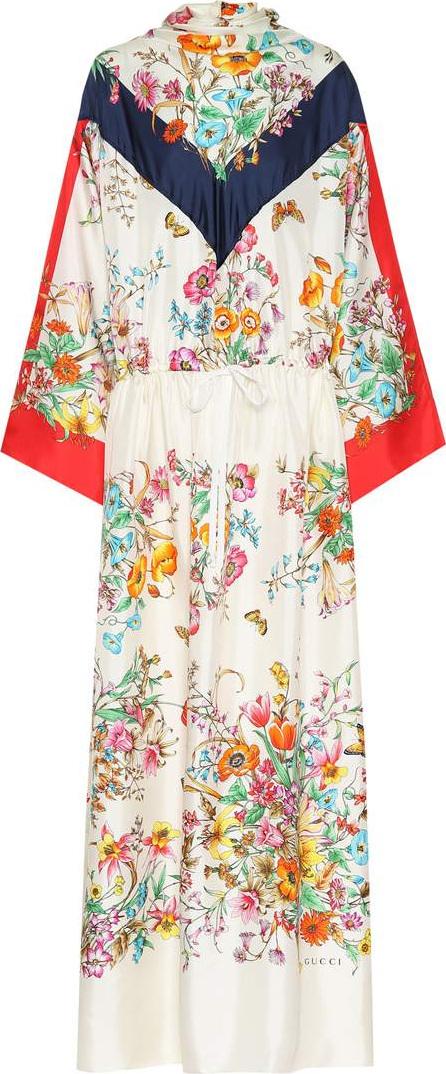 Gucci Floral silk maxi dress