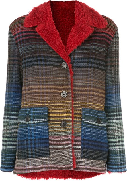 Missoni Gradient-effect plaid jacket