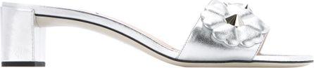 Fendi floral applique sandals