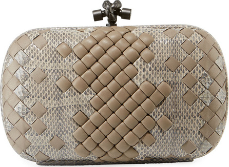 Bottega Veneta Medium Chain Knot Ayers Clutch Bag