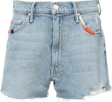 MOTHER Distressed detail denim shorts